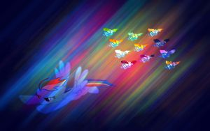 Rainbow Dash and Wounderbolts WALLPAPER by soniathehedgehog64