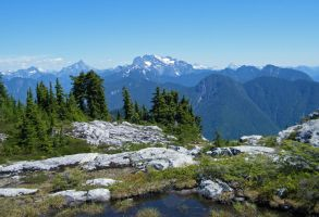 Mt Robie Reid viewed from Alouette Mountain by Westcoastspirits