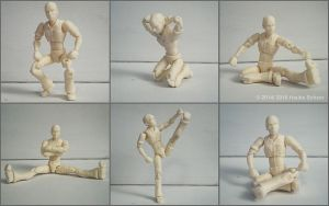 3D printed articulated self portrait vers. II by hauke3000