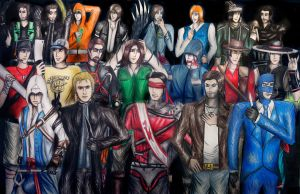 Video Game Crossover Group Photo - Males by SovietMentality