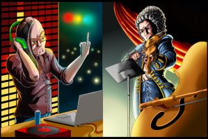 ERB fan art: Skrillex Vs Mozart by SemajZ
