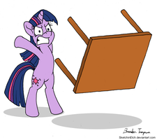 Twilight is Table-Flipping Mad by SketchinEtch