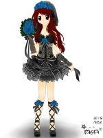 My design of Black Wedding Dress (colored version) by FluffyFluffie