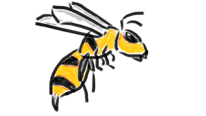 Wasp in 7Paint by Riptor25