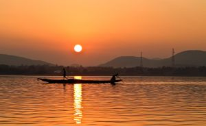 Sunset on Chilika Lake 001 by rajooda
