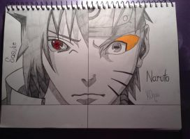 Naruto and Sasuke by Tora-Luv10