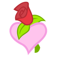 Cutie Mark: Rose Heart by Liggliluff