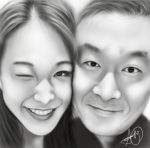 Portrait of Cheronna  (Super Girls) and her Father by laziee2ann