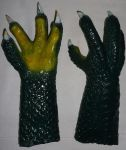 Latex 4 Finger Dragon Hands by Arooki
