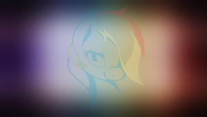 Rainbow Dash minimalistic wallpaper (color) by AvareQ