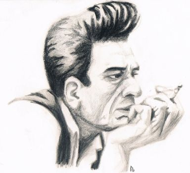Johnny Cash by Korocotta