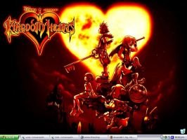 desktop - kingdom hearts by htg
