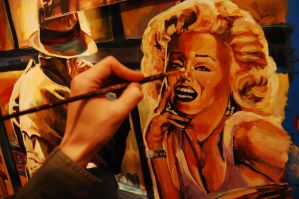 Mural Marylin by Chelovek
