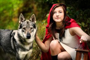 Red Riding Hood with wolf by Juriet by Juri-cosplay