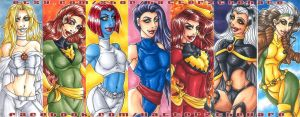 X Men Ladies Bookmarks by Hatter2theHare