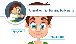 Animation Tip: Naming body parts by AhNinniah
