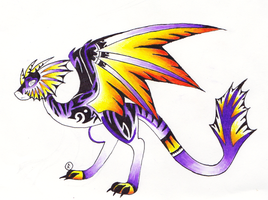 Purple Wyvern Adoptable (CLOSED) by Ultralee0