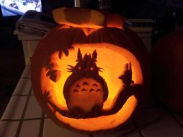 Totoro Pumpkin carving by Faye-Fox