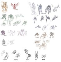 Sketch Dump - Uniters by 0nuku