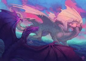 Hmmm, the title is something about dragons by Nimphradora