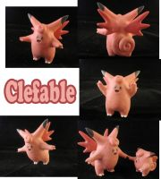 Clefable Sculpture: Collage by ClayPita