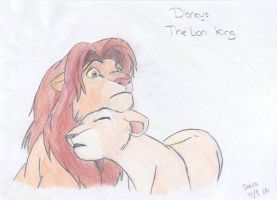 Simba and Nala from Lion King by FullmetalStella