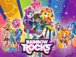 The Little Pony Legend: Rainbow Rocks edition by MaggiesHeartLove