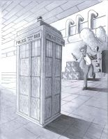 To the TARDIS inked by Dragonfoxx70