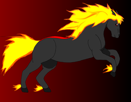 Contest: Fire Horse of Chaos by sliverwolf018