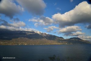 Clouds Over The Lake by Aneede