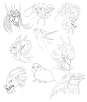 Free Sketches Round 1 by BlackChaos666