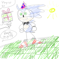 HAPPY B-DAY SONIC by Tundris