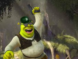 Gangsta Shrek by mrlorgin