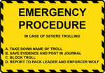 Emergency Procedure Sign by FearOfTheBlackWolf