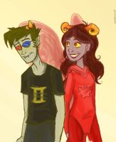 Sollux and Aradia by SuperCrazyHyena