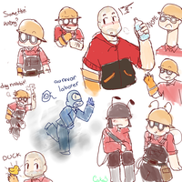 Messy Engie Dump by Cakeu-chan89