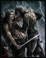 Darkness vs Ian Nottingham Fin by Destinyfall