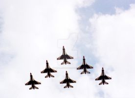 USAF Thunderbirds by focallength