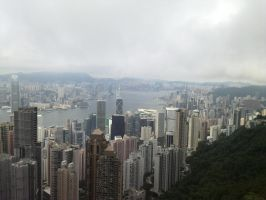 Hong Kong from Victoria Peak 1 by psymonster1974