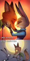 Zootopia in 10 Different Art Styles! by Neytirix