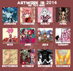 My Year In Art 2014 by tea-bug