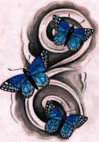 Blue Butterflies by Kirzten