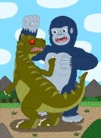 King Kong VS Plated Sharptooth by MCsaurus