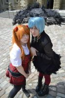 Rebel Asuka and Rei by zombielily