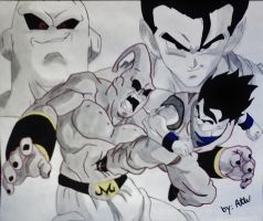 Buu Vs Super Gohan by WatersDBZArt