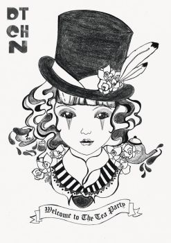 Alice in Wonderland Series BW 4 by dtchn