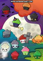 Spooky Cupcakes Poster by pai-thagoras