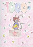 1000+ thank you by Luffy-Kun
