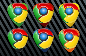 Google Chrome Guitar Pick Icon by AskingMyValentine