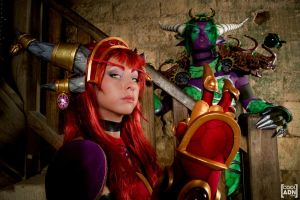 Alexstrasza and Ysera by KoniCosplay
